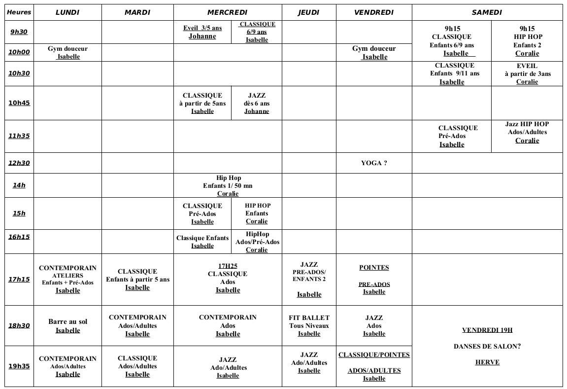 planning-ecole-danse-studio-pirouette-2020-2021